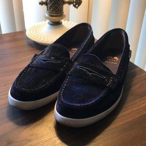 Cole Hann Blue Velvet Loafers Size 7.5